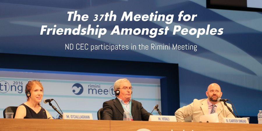 Center Cosponsors Rimini Meeting