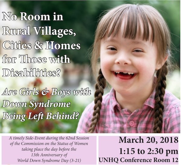 UN Panel on Down Syndrome Poster