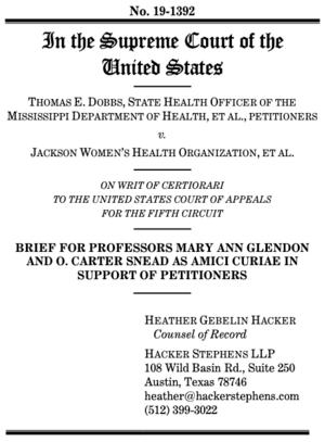 Amicus Brief in Dobbs SCOTUS case